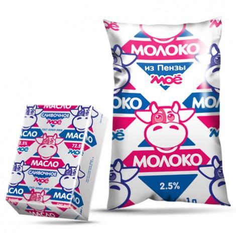 Упаковка молочных продуктов «Моё»